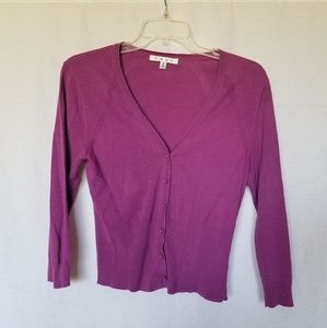 Cabi 3/4 sleeve purple cardigan size small